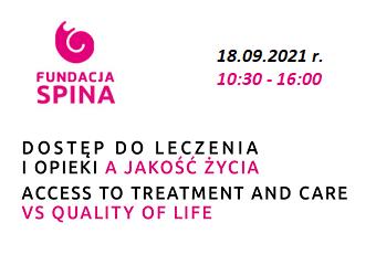 """Konferencja on-line: """"Dostęp do leczenia i opieki, a jakość życia"""""""
