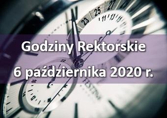 Godziny rektorskie - 6 października 2020 r.