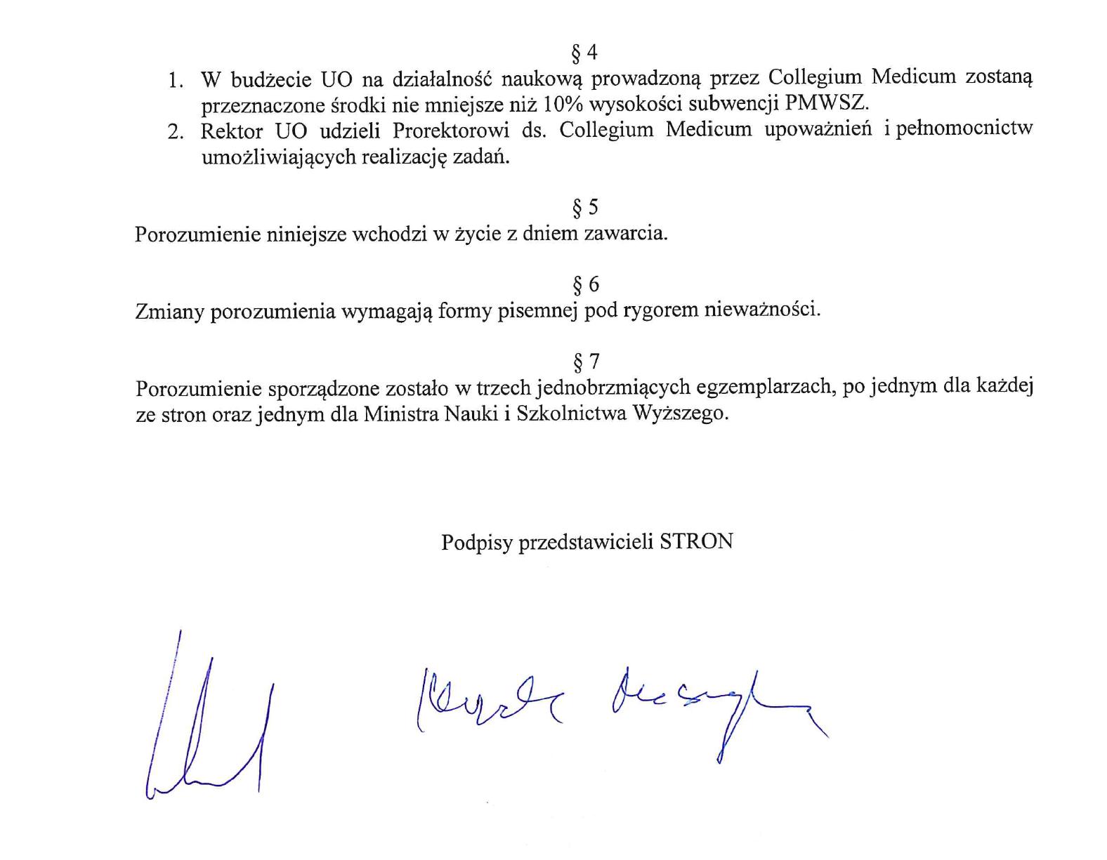 Porozumienie UO & PMWSZ w Opolu Cz. 2