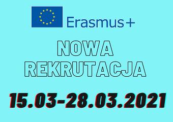 Rekrutacja na wyjazdy na studia i praktyki w roku akademickim 2021/2022 w ramach Programu Erasmus+