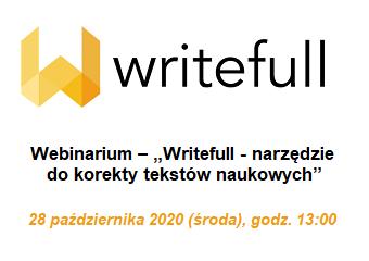 """Webinarium – """"Writefull - narzędzie do korekty tekstów naukowych"""""""